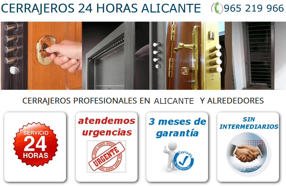 Cerrajeros 24 horas Alicante